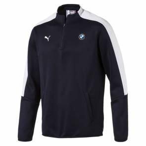 Sweat Puma Bmw Motorsport T7 1/2 Zip Track Team Blue