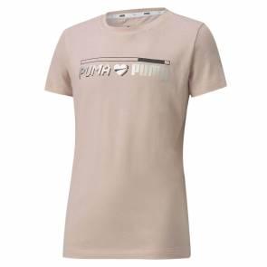 T-shirt Puma Alpha Graph Peche Fille