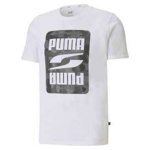 T-shirt Puma Rebel Camo Blanc