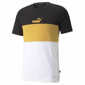 T-shirt Puma Essential+ Colorblock Noir