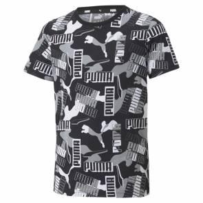 T-shirt Puma Alpha Aop Noir Enfant