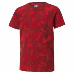 T-shirt Puma Alpha Aop Rouge Enfant