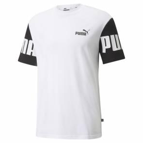 T-shirt Puma Power Colorblock Blanc