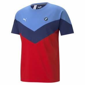 T-shirt Puma Bmw Motorsport Mcs Bleu / Rouge