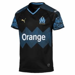 Maillot Puma Om Exterieur 2018-19 Noir / Bleu Junior