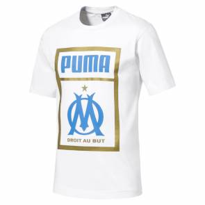 T-shirt Puma Om Fan Tag Blanc
