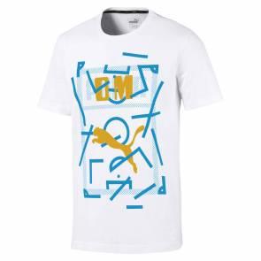 T-shirt Puma Om Graphic Blanc