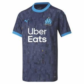Maillot Puma Om Exterieur 2020/21 Bleu Enfant
