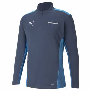 Training Top Puma Om 1/4 Zip 2021-22 Bleu