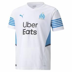 Maillot Puma Om Domicile 2021-22 Blanc Enfant