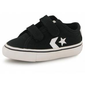 Converse Star Replay Noir / Blanc Bebe