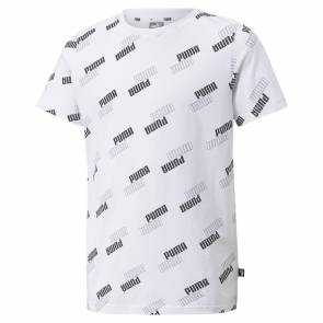T-shirt Puma Power Aop Blanc Fille