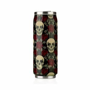 Canette Les Artistes De Paris Isotherme Reutilisable 500ml Rose And Skull