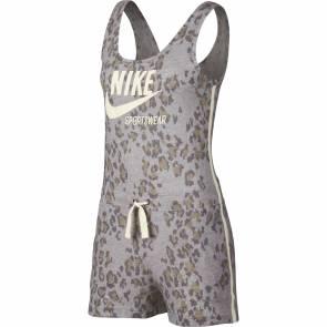 Combishort Nike Sportswear Gym Vintage Gris Leopard