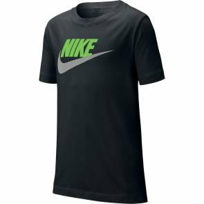 T-shirt Nike Sportswear Noir / Vert Enfant