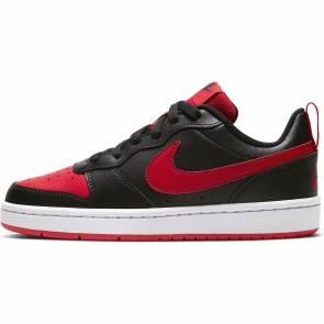 Nike Court Borough Low Noir / Rouge Enfant