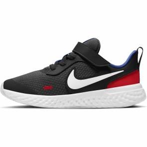 Nike Revolution 5 V Noir / Rouge Enfant