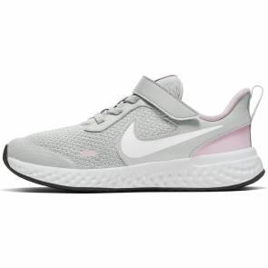 Nike Revolution 5 V Gris / Rose Fille