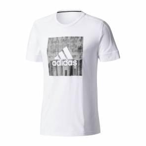 T-shirt Adidas Id Flash Blanc / Noir