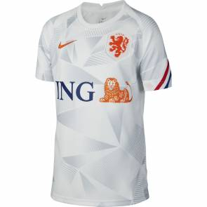 Maillot Nike Pays-bas Pre-match Blanc Enfant