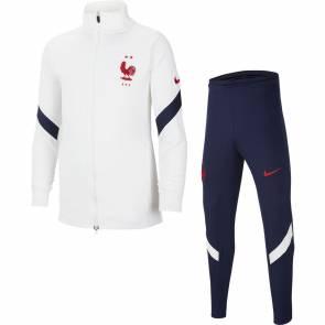 Survêtement Nike France Strike Blanc / Bleu Enfant
