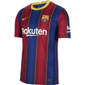 Maillot Nike Barcelone Domicile 2020-21 Bleu / Rouge / Or
