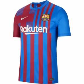 Maillot Nike Barcelone Domicile 2021-22 Bleu / Bordeaux