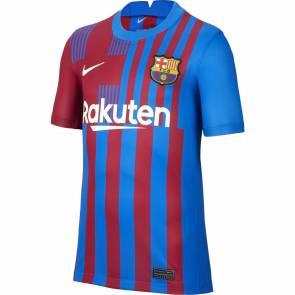 Maillot Nike Barcelone Domicile 2021-22 Bleu / Bordeaux Enfant