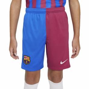 Short Nike Barcelone Domicile 2021-22 Bleu / Bordeaux Enfant