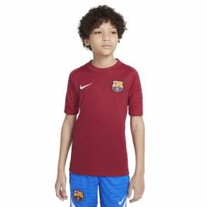 Maillot Nike Barcelone Training 2021-22 Rouge Noble Enfant