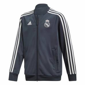 Veste Adidas Real Madrid Presentation 2018-19 Bleu / Blanc Junior