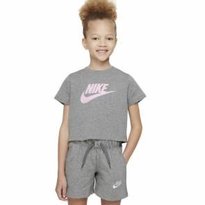 T-shirt Nike Sportswear Crop Gris Fille