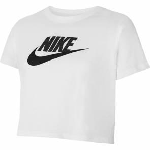T-shirt Nike Sportswear Crop Blanc Fille
