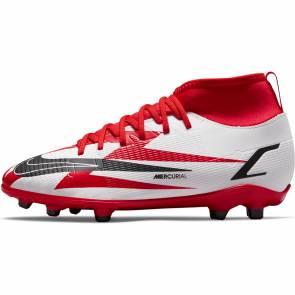 Nike Superfly 8 Club Cr7 Fg/mg Rouge / Blanc Enfant