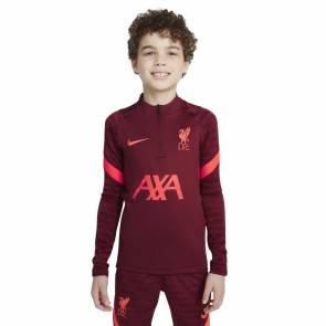 Training Top Nike Liverpool Strike 2021-22 Bordeaux Enfant