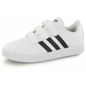 Adidas Vl Court 2.0 Cm Junior Blanc / Noir