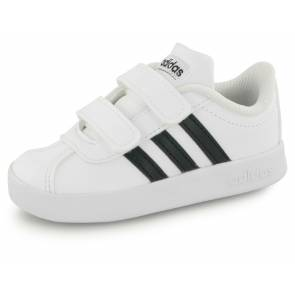 Adidas Vl Court 2.0 Velcro Blanc / Noir Bebe