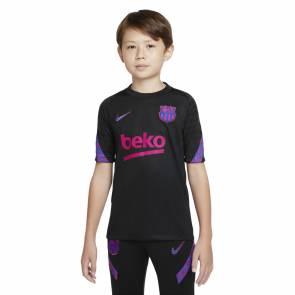 Maillot Nike Barcelone Strike 2021-22 Noir Enfant