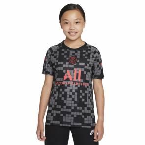 Maillot Nike Psg Pre-match 2021-22 Noir / Gris Enfant