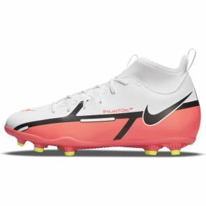 Nike Phantom Gt2 Club Df Fg/mg Blanc / Rouge Enfant