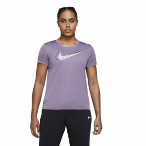 T-shirt Nike Dri-fit Swoosh Run Violet Femme