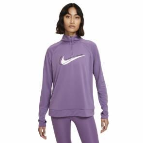 Sweat Nike Dri-fit Swoosh Run Violet Femme