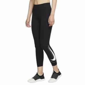 Collants Nike Dri-fit Swoosh Run 7/8 Noir Femme