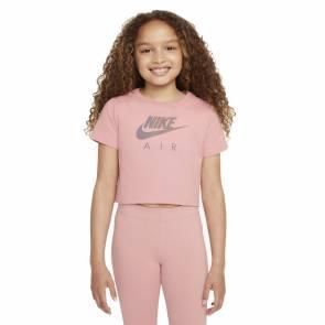 T-shirt Nike Sportswear Crop Air Rose Fille
