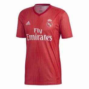 Maillot Adidas Real Madrid Third 2018-19 Rouge / Corail