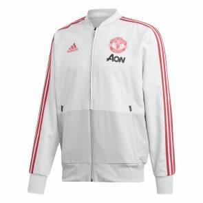Veste Adidas Manchester United Pre 2018-19 Gris / Rouge