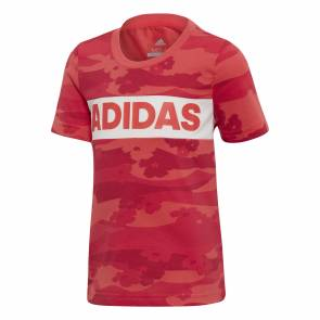 T-shirt Adidas Little Girl Summer Shock Red Enfant