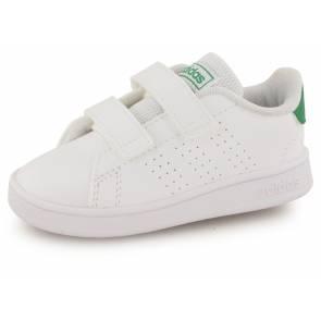 Adidas Advantage Clean Blanc / Vert Bebe