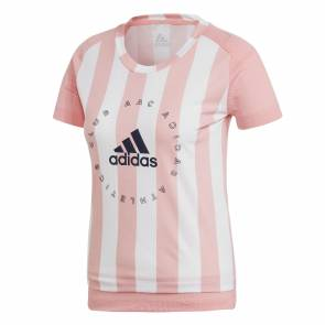 T-shirt Adidas Graphic Rose / Blanc Femme