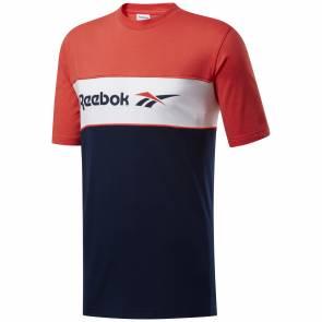 T-shirt Reebok Classics Linear Rouge / Bleu